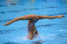2012 Olympic Women's Synchronized Swimming | ... at the Aquatics Centre during the London 2012 Olympics, Aug. 6, 2012