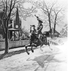 Paul Revere's ride, Illustration.
