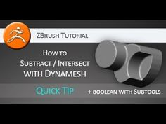 Support this channel by becoming a patron. http://www.patreon.com/3dtutsam Quick tip tutorial on how to use Dynamesh and add, subtract or intersect it with o...
