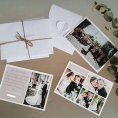 Zur Danksagung nach der Hochzeit verschickt man am besten persönliche Dankeskarten an die Hochzeitsgäste. Die besten Tipps dazu findet Ihr hier. Polaroid Film, Thanks Card, Cards, Tips