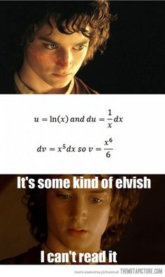 Every time I take a Calculus test…