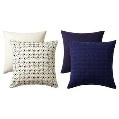 IKEA - JASSA, Cushion cover, Embroidery adds texture and luster to the cushion.Pattern on one side and solid color on the other, so you can vary the look of your cushions.The zipper makes the cover easy to remove.