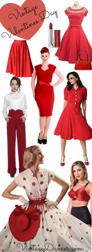Shop vintage inspired valentines day dresses, lingerie, shoes and accessories. Go