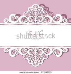 Elegant ornate lace frame, vector greeting card or invitation template - stock vector