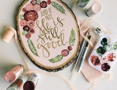Love this Scripture Wood Slice from obs form. Cute Crafts, Crafts To Make, Arts And Crafts, Painting Quotes, Painting On Wood, Crafty Craft, Crafting, Wood Slices, Wood Art