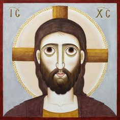by Nikola Saric (_(Serbian, ~~~Jesus Christ Religious Icons, Religious Art, St Clare's, Images Of Christ, Paint Icon, Religious Paintings, Orthodox Icons, Classical Art, Sacred Art