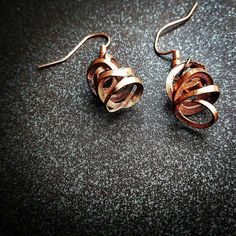 These upcycled copper shavings were taken from the collection of a former…