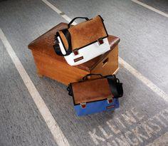Zirkeltraining: Taschen aus Turnmatten und Sportgeräteleder