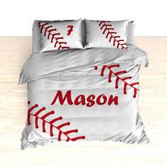Personalized Baseball Stitches Bedding, Comforter or Duvet – 2cooldesigns