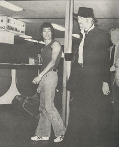 Bruce Lee with good friend James Coburn