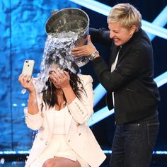 Pin for Later: Kim Kardashian Doesn't Look Too Happy About Her Ice Bucket Challenge