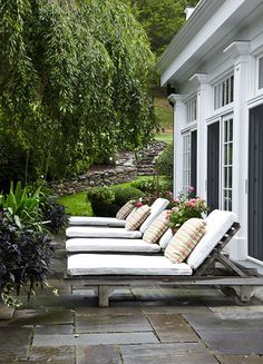 Chaise lounge chairs via Greige