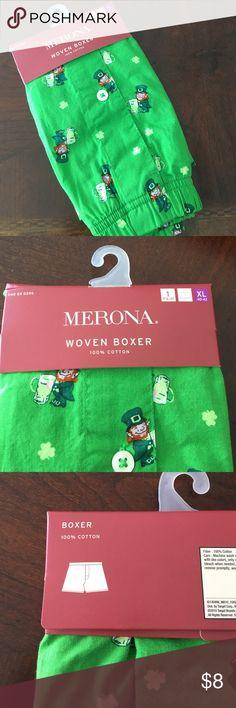MEN's boxers NWT St Patrick's day Merons Men's boxers NWT St Patrick's day design. Merona Underwear & Socks Boxers