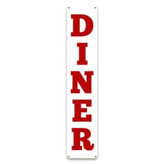Diner Vertical Tin Sign
