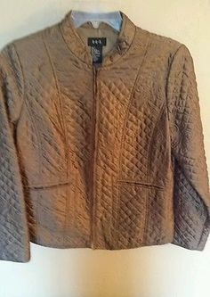 RQT quilted copper jacket size Large