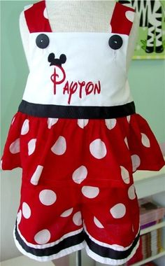 Custom Disney Minnie Mouse Outfit Swing Top and Capris want to make these for the girls for our Disney trip