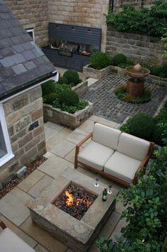 Love this courtyard by inspired garden design