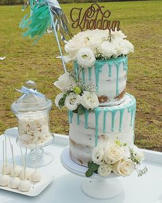 Cakes By Hanan xx  @cake_me_pretty Gorgeous Naked Cake for Baby Boy Shower...Instagram photo | Websta (Webstagram)
