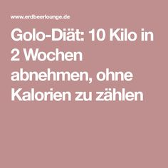 Golo-Diät: 10 Kilo in 2 Wochen abnehmen, ohne Kalorien zu zählen Weight Loss Tips, Lose Weight, Fat Loss Diet, Fat Burning, Fitness Motivation, Food And Drink, Health Fitness, Low Carb, Healthy