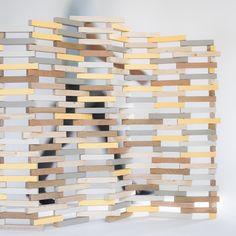Divide - Separador de ambientes mediante la reutilización de los sobrantes de madera que se encuentran en cualquier carpintería. - Objeto ecológico con diseño