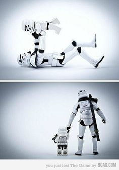 Stormtrooper daddy & his littles. @jodi pink this is a great idea!