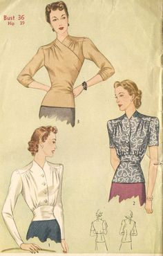 Simplicity 4186 Misses' Vintage Early 1940s Set by DRCRosePatterns