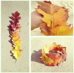 Leaf Crown, for when you feel like the queen of Autumn Autumn Crafts, Autumn Art, Nature Crafts, Leaf Crown, Flower Crown, Diy And Crafts, Crafts For Kids, Arts And Crafts, Roses Photography
