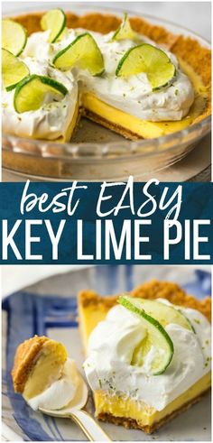 Key Lime Pie is a Summer must make. This EASY Key Lime Pie Recipe is one of my most treasured recipes; we love to eat it all Summer Long. This delicious pie recipe is part creamy, party tart, and all the way delicious. No outdoor BBQ or family celebration is complete without this perfect Key Lime Pie Recipe. #pie #summer #keylimepie #lime #fruit #easyrecipe via @beckygallhardin #thecookierookie