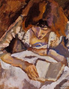 Jules Pascin. Hermine Reading