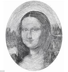 A modern masterpiece: The Mona Lisa is recreated using a single line but…