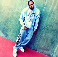 Chris Brown with Black Pyramid Gear on.