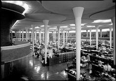 Johnson Wax Corporation Building Interior from Balcony