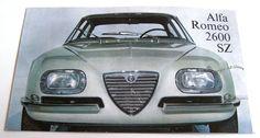 Alfa Romeo 2600 SZ Zagato -  brochure catalog depliant Prospekt catalogo opuscolo