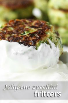 Jalapeno zucchini fritters – Serve with sour cream, if desired.