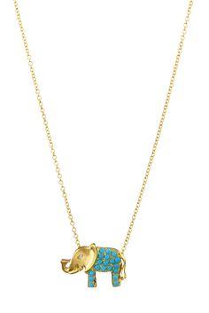Bea Millen turquoise elephant necklace. www.beamillen.com