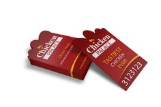 27 best die cut business cards images on pinterest die cut a beautiful die cut business card design with logo on vertical layout with dominant red color fbccfo Image collections