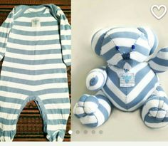 Bear made with babies onesie
