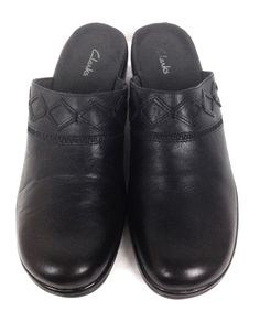 Clarks Shoes Black Leather Loafers Women's 11 #Clarks #LoafersMoccasins
