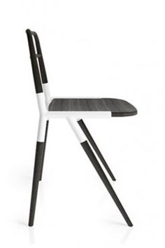 Less Chair by Studio 06. Steel tube frame with wooden inserts. Candidtate for mass customisation.
