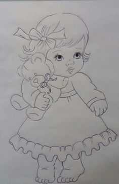 Only a few simple strokes can make a perfect drawing - drawing perfect simple strokes - DecorationDrawing Pencil Sketch Drawing, Sketch Painting, Pencil Art Drawings, Girly Drawings, Art Drawings Sketches Simple, Baby Motiv, Children Sketch, Baby Drawing, Drawing Drawing