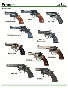 Manurhin revolvers, from France. Tactical Equipment, Military Equipment, Weapons Guns, Guns And Ammo, Rifles, Weapon Of Mass Destruction, Military Guns, Weapon Concept Art, Cool Guns