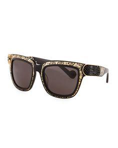 Opulence Sunglasses, Gold/Black by Anna-Karin Karlsson at Bergdorf Goodman.