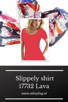 Dit Lava Slippely viscose shirt met korte mouwen is gemaakt van 93% viscose en 7% elastan.  Het viscose Slippely shirt hoef je na het wassen enkel op te hangen en kan zonder te strijken weer heerlijk gedragen worden. Dit Slippely shirt lava is ideaal te dragen als basis shirt onder een vest of jasje.  #slippely #slippelyshirt #slippelyshirtonline #onlineslippelyshirt #mbstyling #shawl #shawls #sjaal #sjaals Lava, Shirts, Dress Shirts, Pallet, Shirt