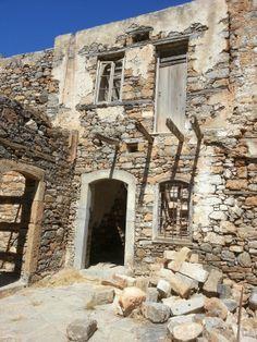 Spinalonga the former Leaper colony off Crete Greece
