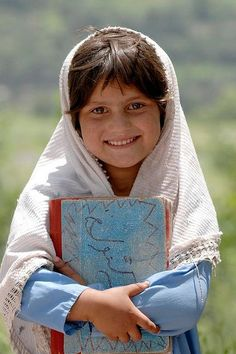 A Pakistani girl going to school