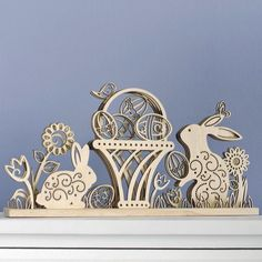 Flourish Easter Design Wood Centerpiece by Lauren Picciuca 4037712