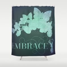 embrace the new green modern forest Shower Curtain by Healinglove  - $68.00