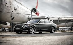Download wallpapers Mercedes S550, luxury sedan, business class, tuning S-class, German cars, Giovanna wheels