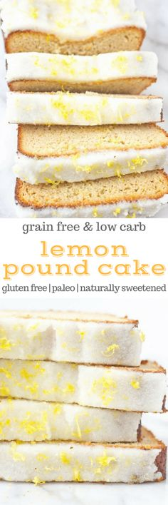 Lemon Pound Cake makes a beautiful addition to brunch or breakfast. This recipe is easy to make with only one bowl and also makes a great dessert too! This recipe is always a hit - winter spring summer or fall. Gluten Free Pound Cake, Gluten Free Cakes, Gluten Free Desserts, Dairy Free Recipes, Healthy Bread Recipes, Low Carb Recipes, Real Food Recipes, Paleo Bread, Dessert Sans Gluten