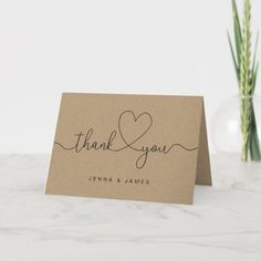 Picture Thank You Cards, Cute Thank You Cards, Thank You Card Design, Handmade Thank You Cards, Thank You Card Template, Wedding Thank You Cards, Thank You Notes, Easy Handmade Cards, Thank You Writing